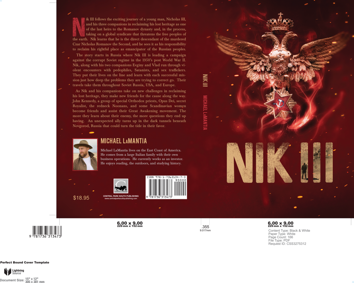 Cover Design for Nik III