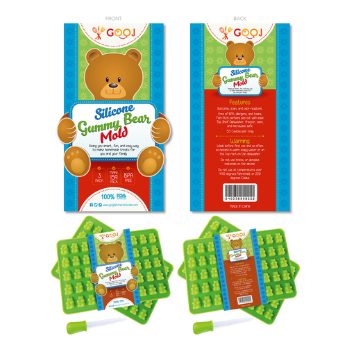 Create a fun and sylish gummy bear package sleeve