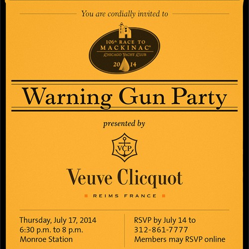 Invitation for Chicago Yacht Club Party