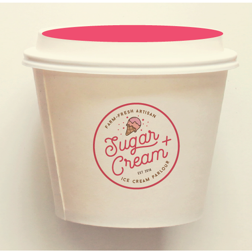 Sugar and cream logo