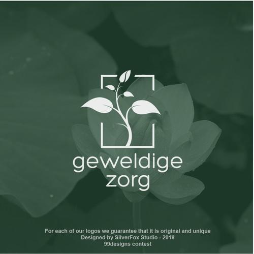 Elegant seedling logo concept