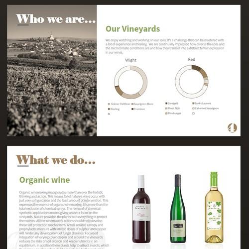 Presentation for wine company