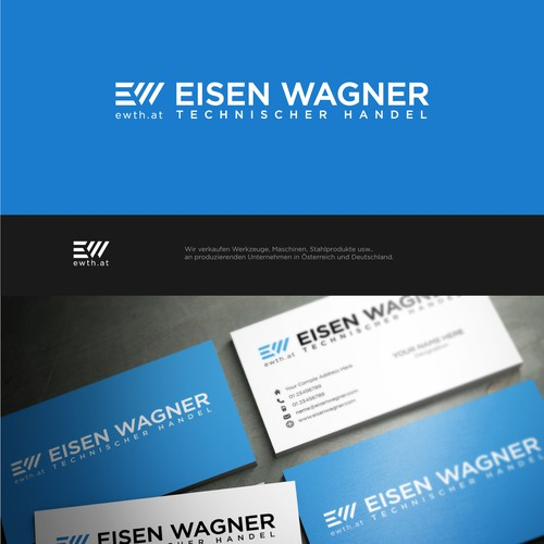 Simple logo design for Eisen Wagner.