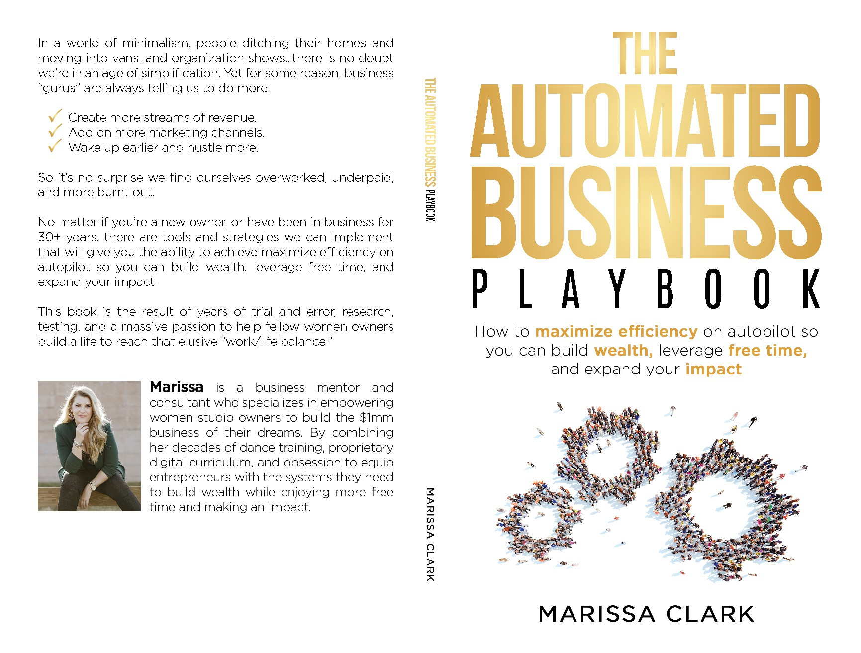 """Book Cover for Creative Women Business Owners """"The Automated Business Playbook"""""""