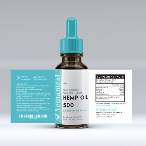 Label design for CBD Oil