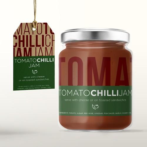 Tomato Chilli Jam Label