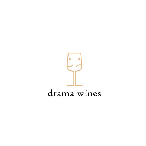 Theatrical logo for wine company