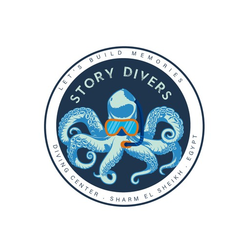 the diving center logo, located in Sharm el Sheikh, Egypt