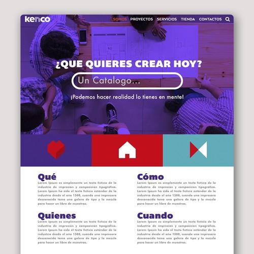 Web design for Kenco