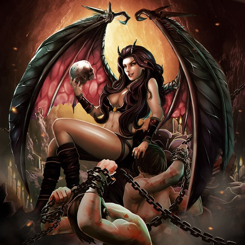 Temptation of the Succubus silver coin