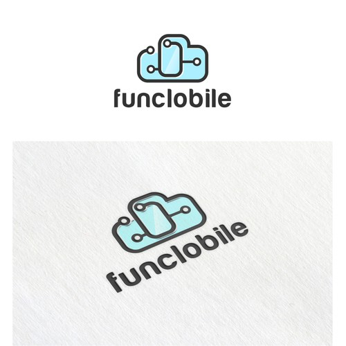Create a unique, fun, and eye catching logo for Funclobile.