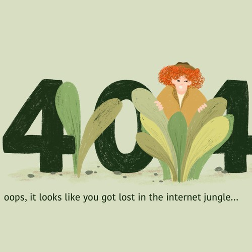 Illustration website page 404 error