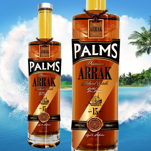 Label for Arrak - spirit with a tropical flair