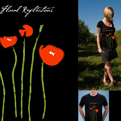 Floral T - Shirt - Creative Natural Logo for Floral Design group