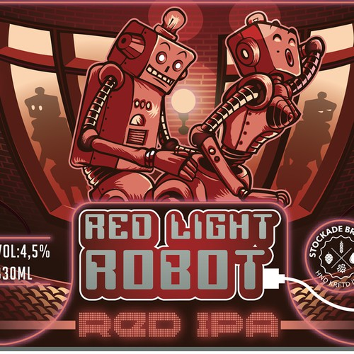 Red light robot