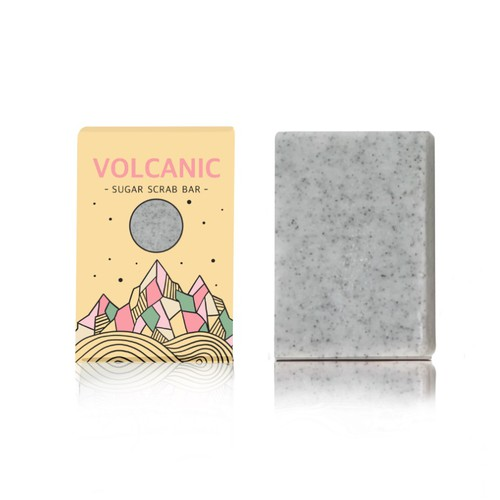 Volcanic Ash Scrub Bar Packaging