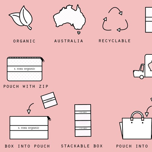 Icons for Organic Tampon Packaging