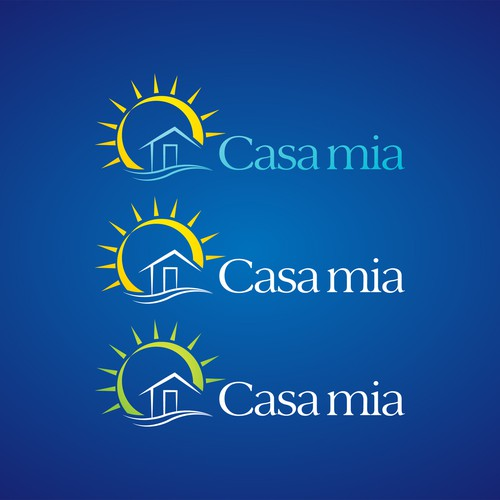 Help Casa mia with a new sunny real estate logo