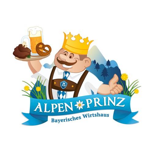 Alpen - Prinz Illustration (Logo)