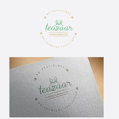 logo concept for tea