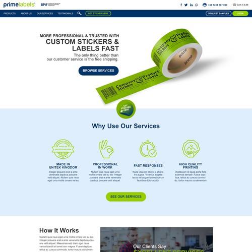 Printing Company Website