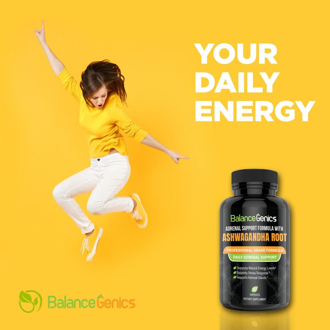 Design a cool ad for Balancegenics health supplements!