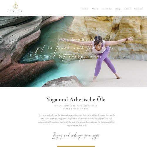 1-1 Project for Pure Scents Yoga - Homepage.