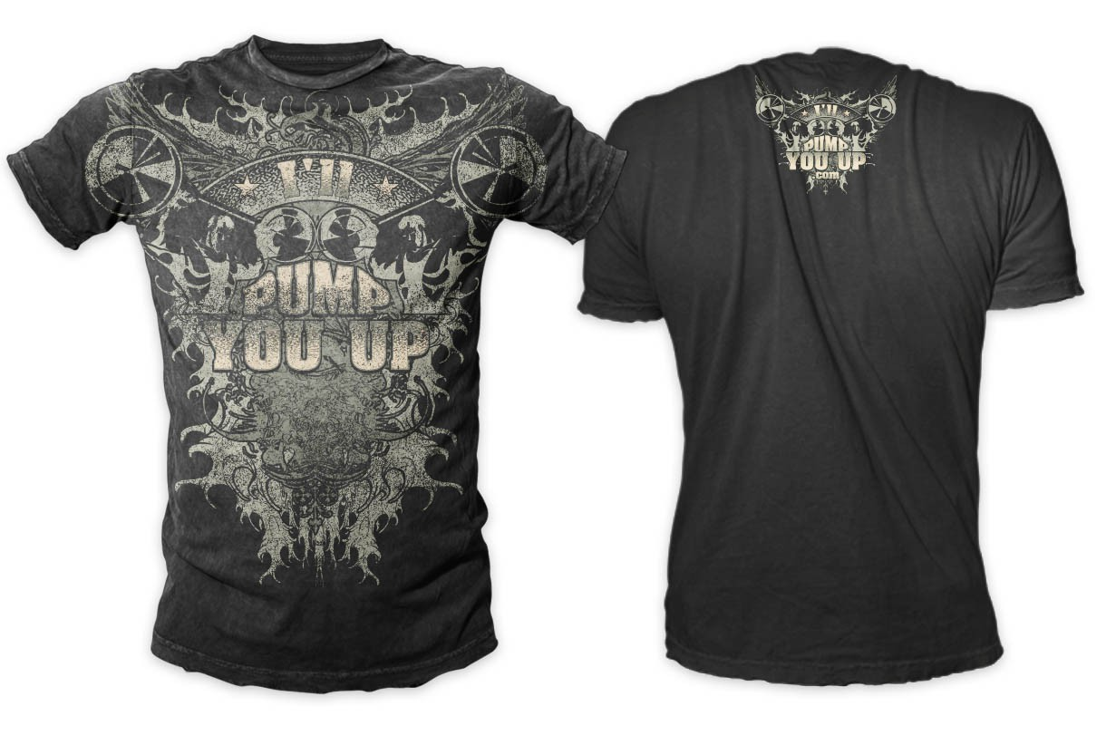 GRUNGE t-shirt design for BODYBUILDING industry
