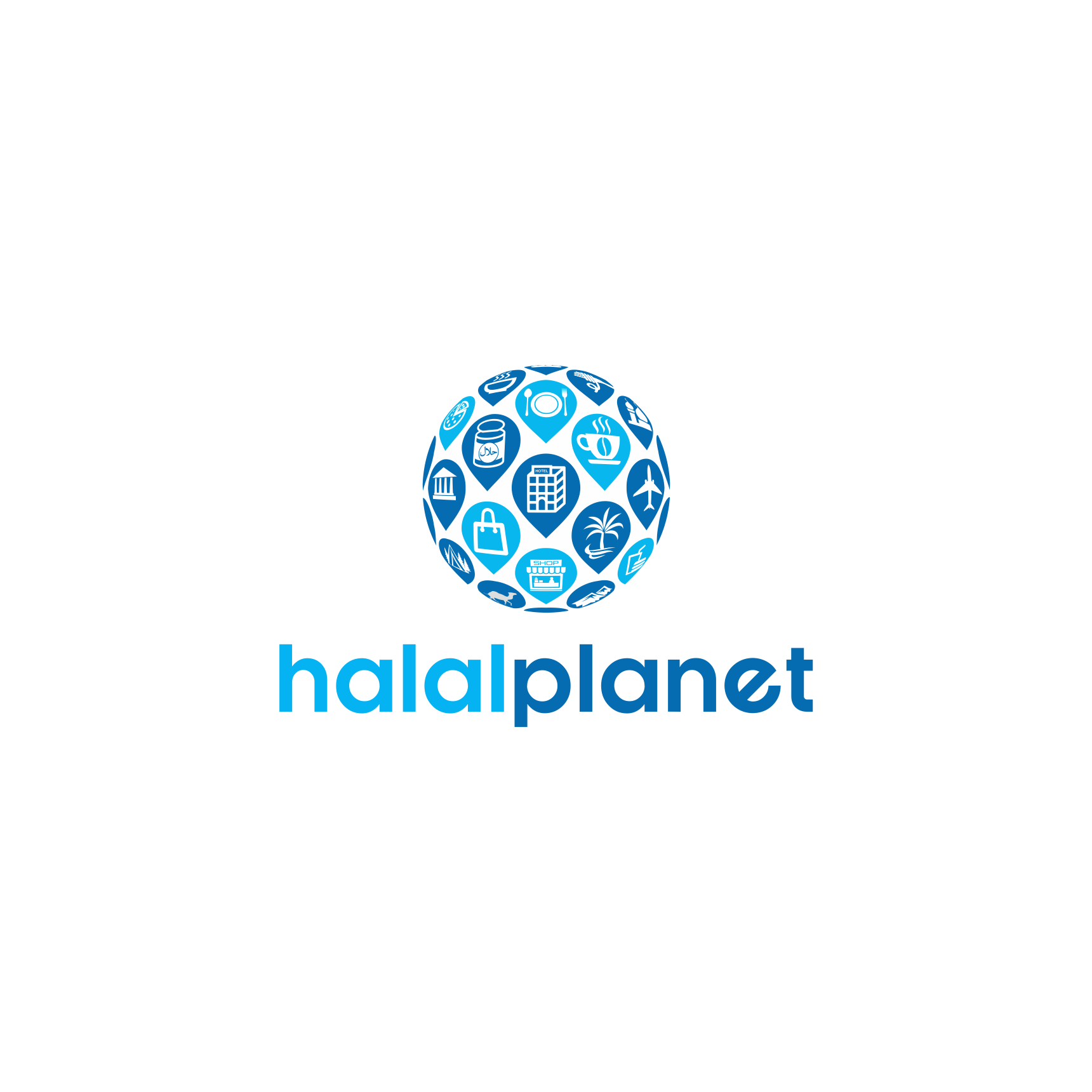 Logo for Halal Planet. Guaranteed!