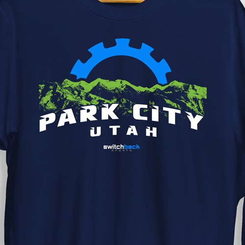 Outdoor Lifestyle Shirt Design for local Ski and Bike Shop