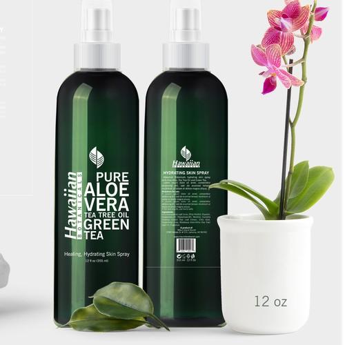 Label design for Hydrating Skin Spray