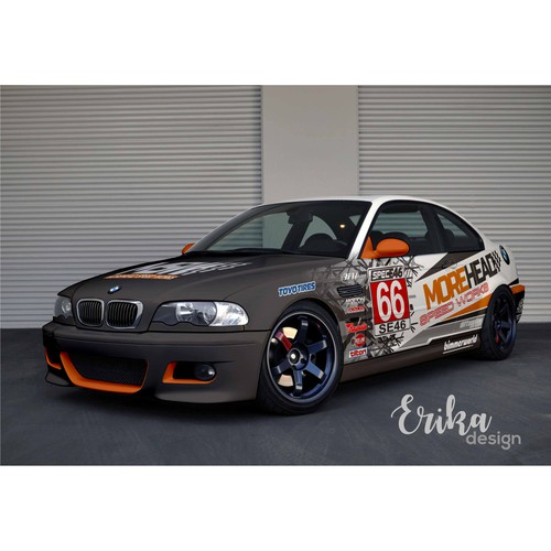 Design BMW 330Ci coupe Race Car