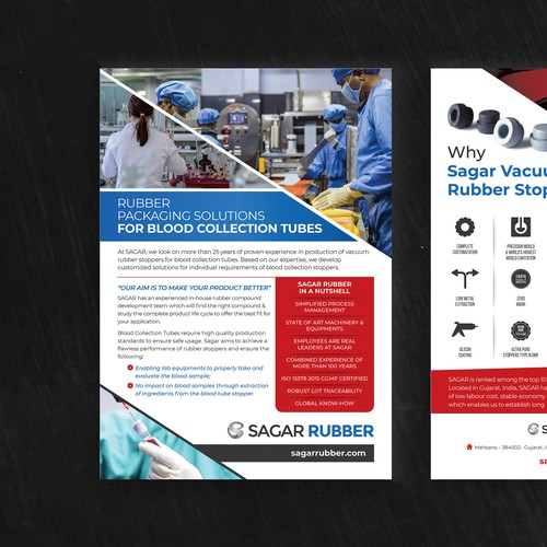 Rubber Packing Solutions One pager design