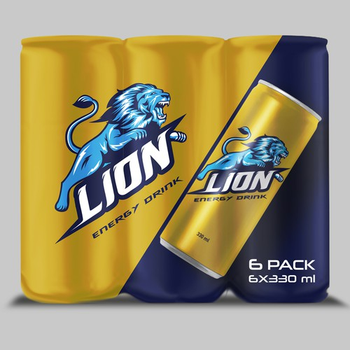 PACKAGING DESIGN LION ENERGY DRINK