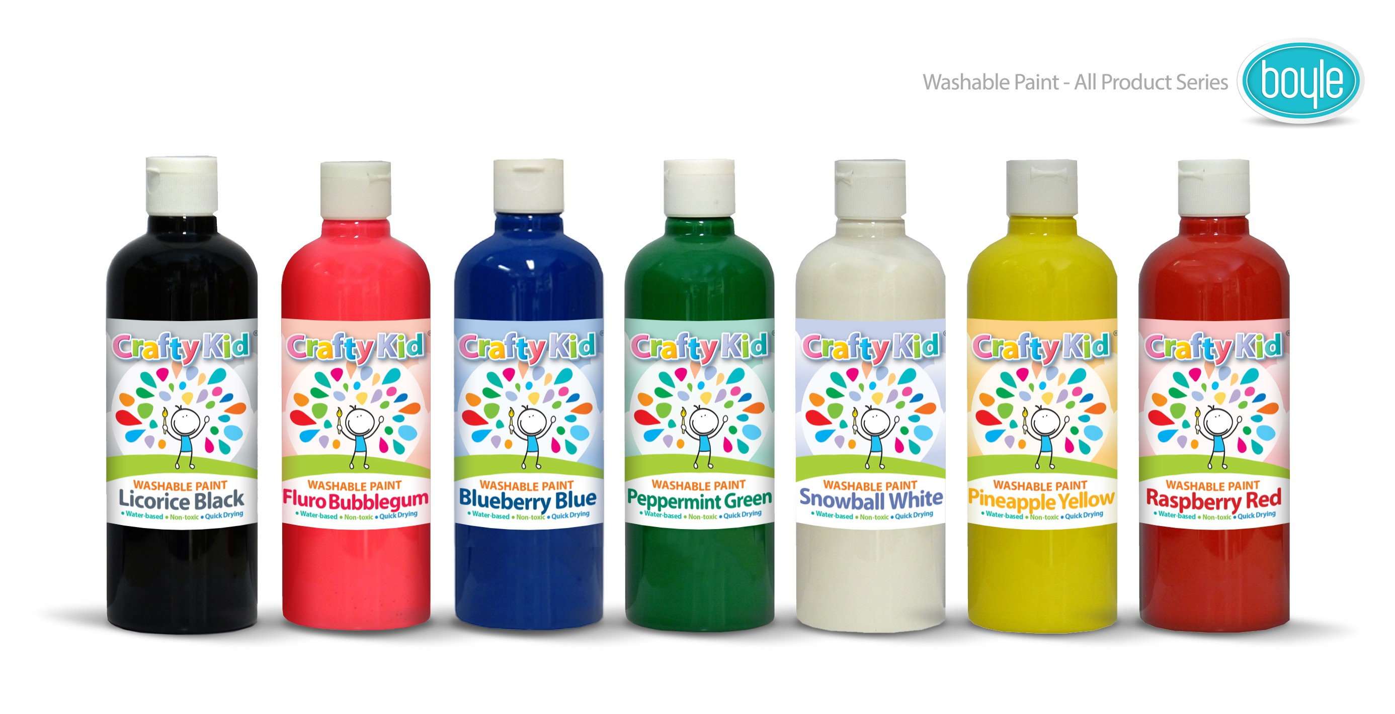 Packaging update for Crafty kid 500ml washable paint