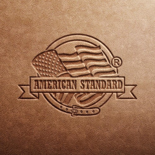 Make a logo for true blue american brand called American Standard