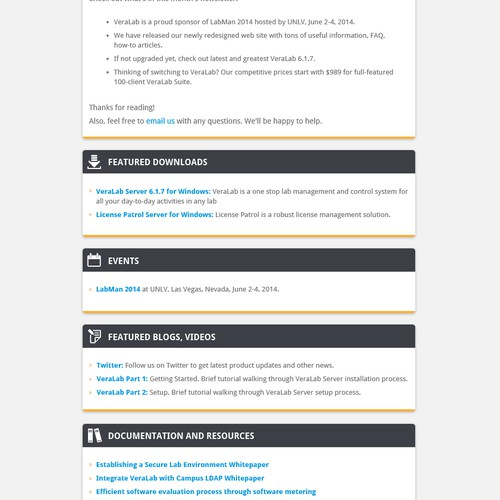 Create Email Newsletter for VeraLab