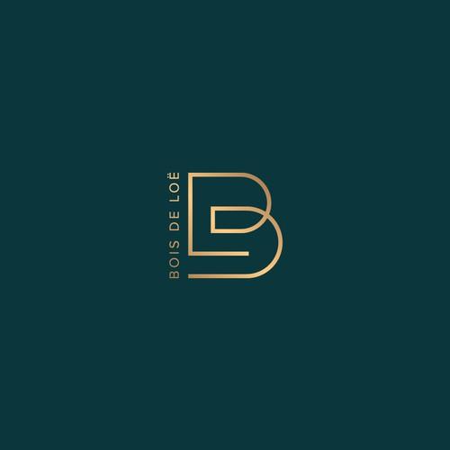 Initial letter BDL logo design.