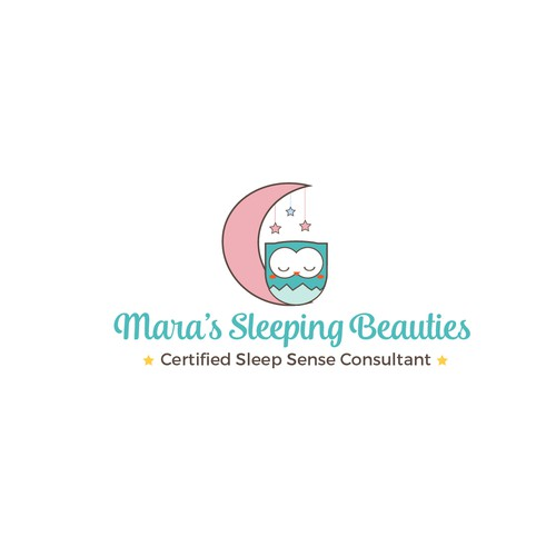 cute yet professional and sophisticated logo for the certified sleep sense consultant