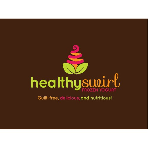 Logo Design for Healthy Swirl Frozen Yogurt