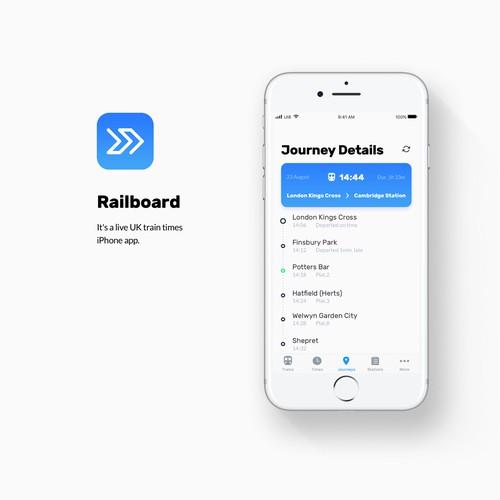 iPhone train times app