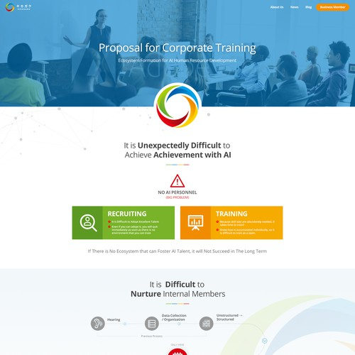 Website design for japanese corporate training company.
