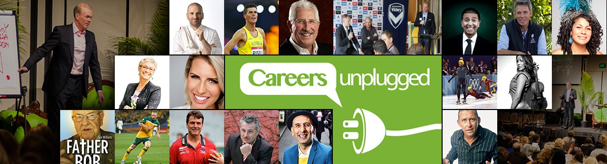 Banner for #1 iTunes Podcast, Careers Unplugged
