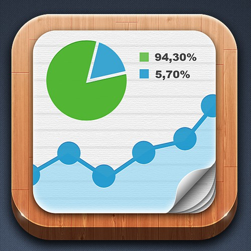 iPad App Icon Design for Statistics App