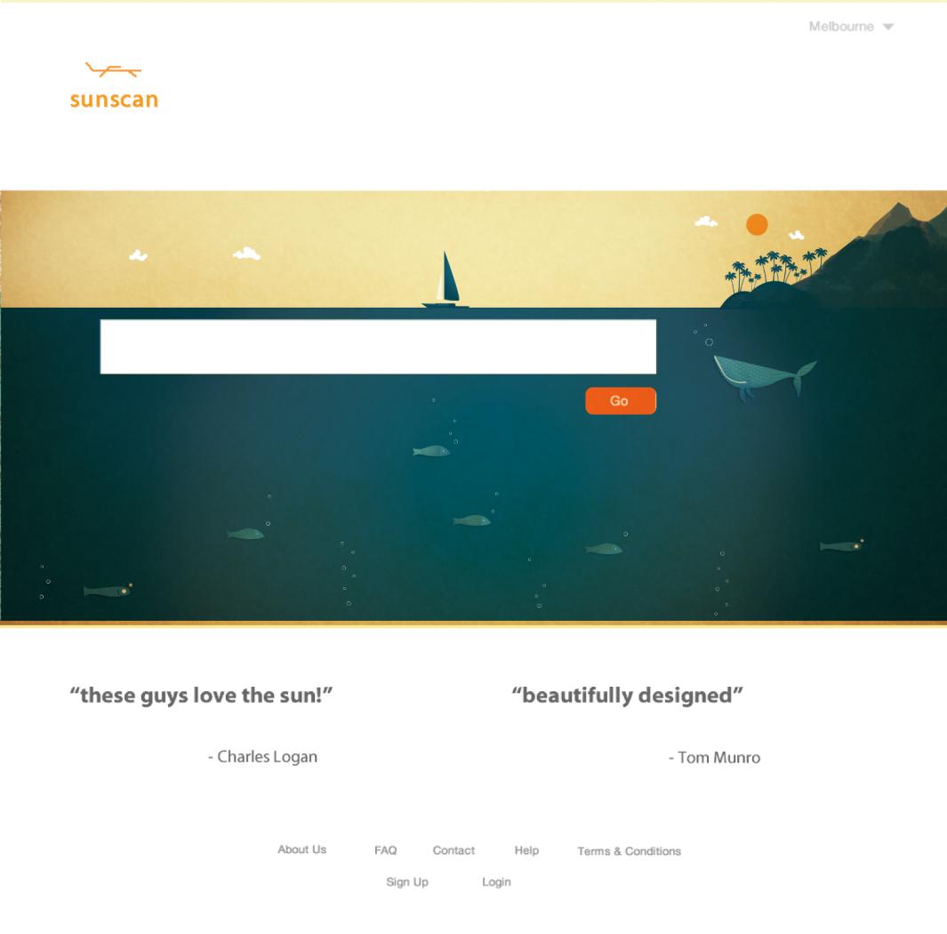 illustration for 'sunny' website