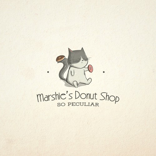 Cute character for a donut shop