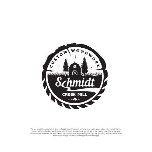 "Logo for ""Schmidt Creek Mill"""