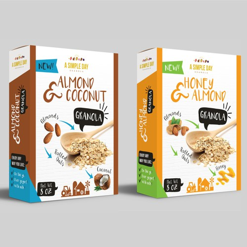 A Simple Day Granola Box Design