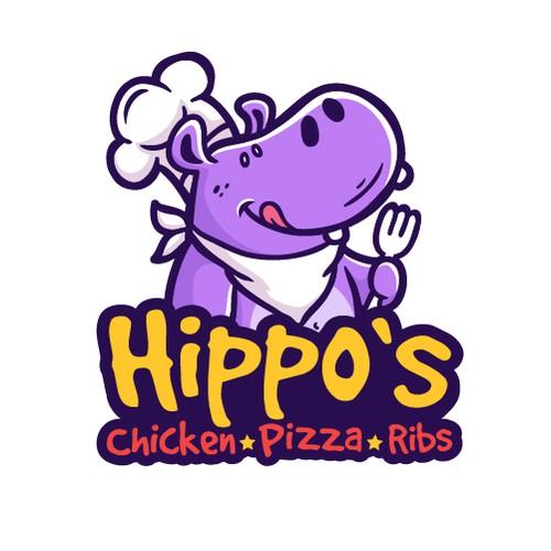 Hippo`s logo design