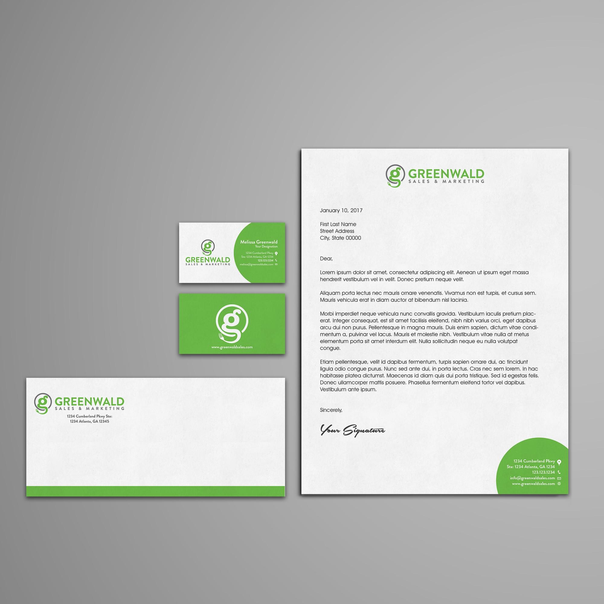 Stationery Design for Greenwald Sales & Marketing